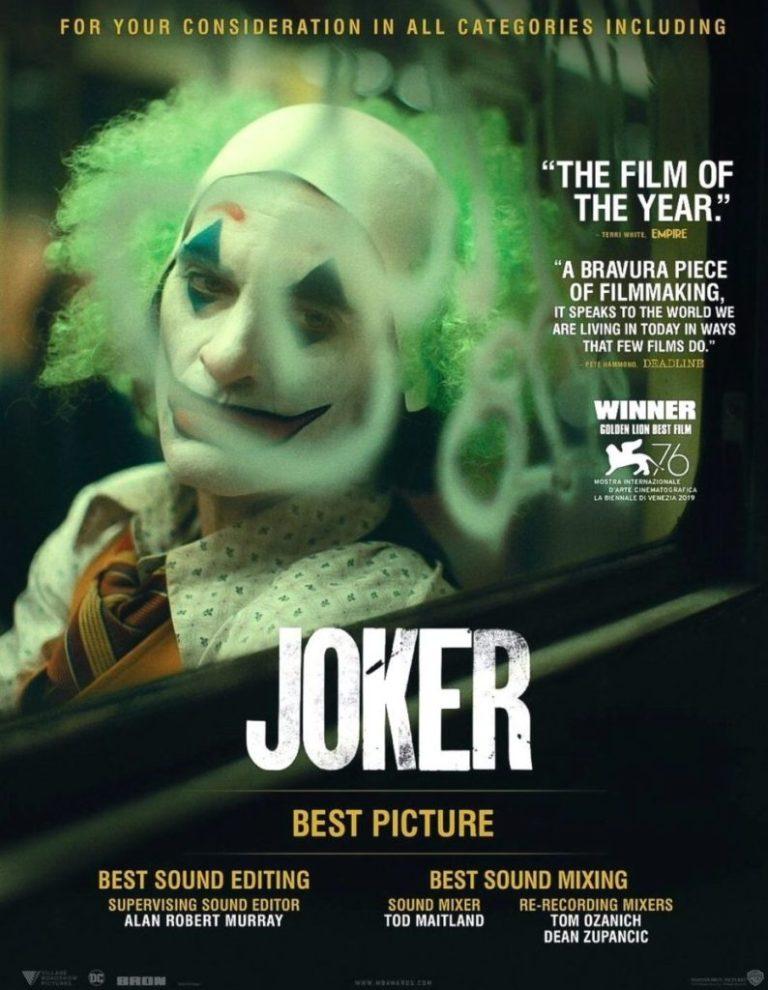 Joker va por el Oscar