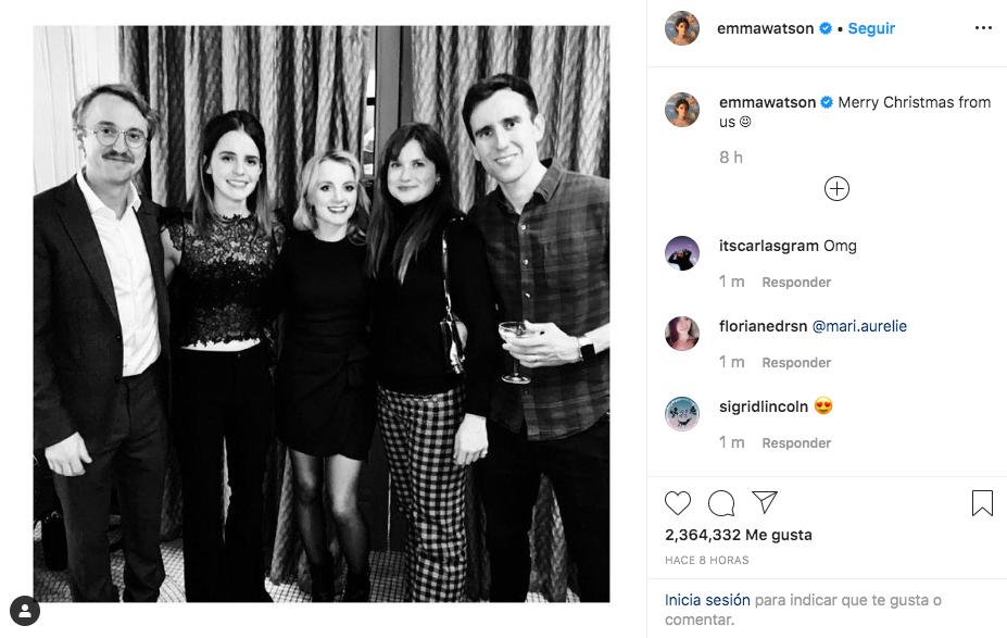 """La fotografía de Emma Watson tiene más de 2 millones de """"me gusta"""""""