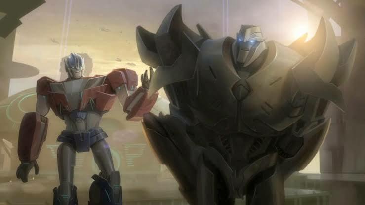 Orion Pax y Megatronus, futuros enemigos